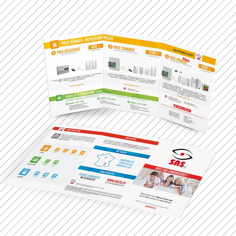 SAS 26 Sécurité privée Plaquette publicitaire PRINT Pinterest - couleur des fils electrique
