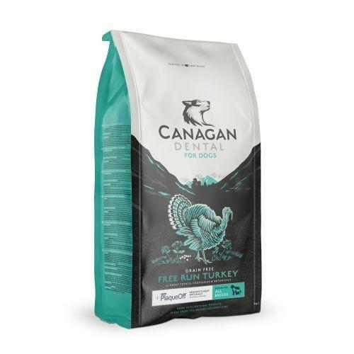 18+ Canagan Dental with PlaqueOff Free Run Turkey Grain Free All Breeds Dog Food 6kg   6kg
