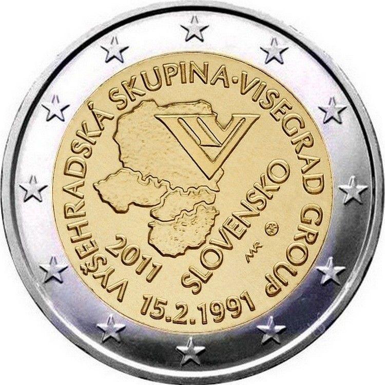 2011 Slovakia Munten Euro Herdenkingen