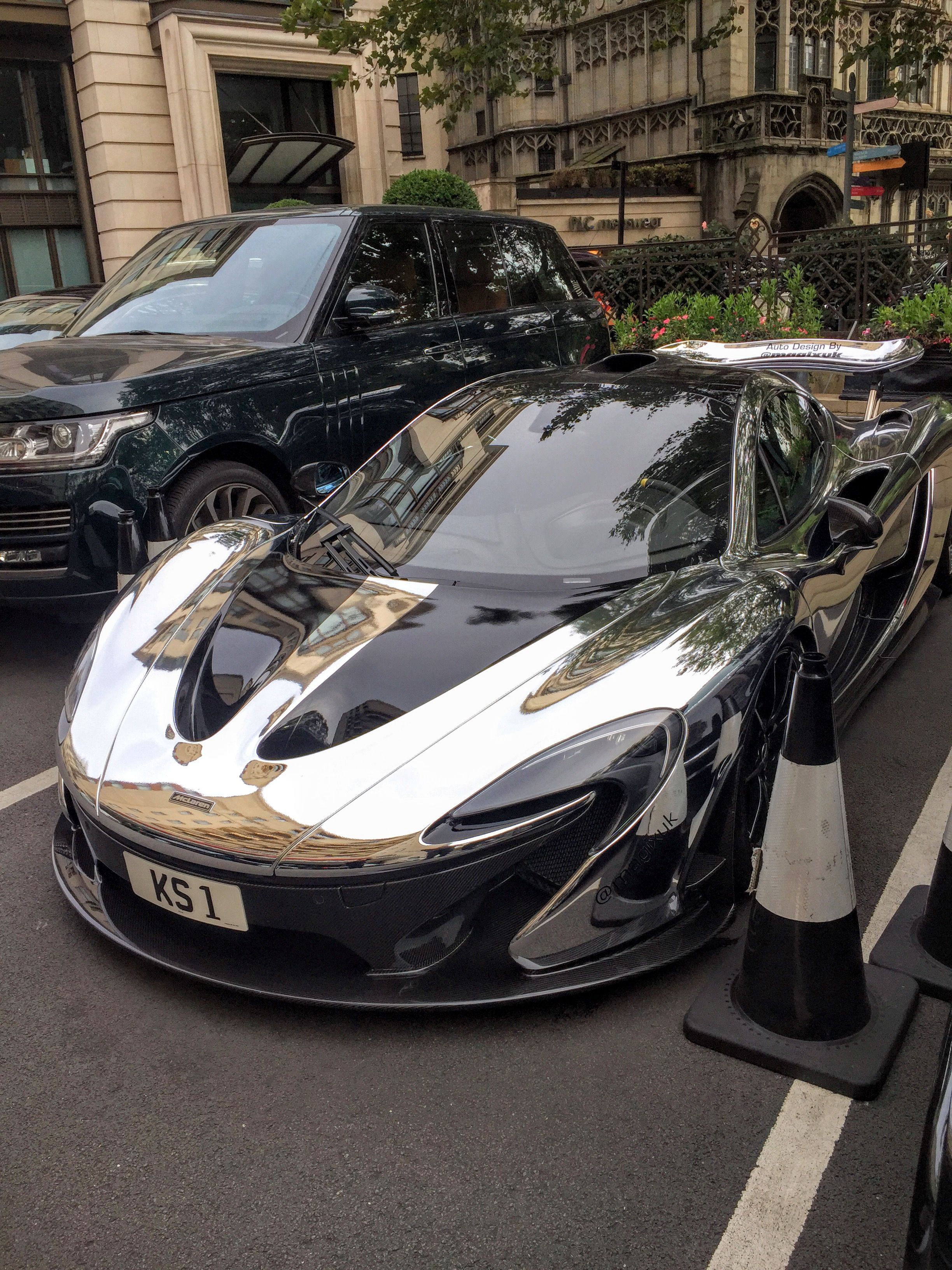 some guy wrapped his mclaren p1 in chrome accelerate pinterest