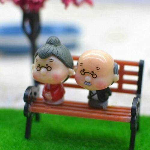 Photo of Mini Garden Ornament Miniature Park Bench Craft DIY House Decor Bench Model – as the picture