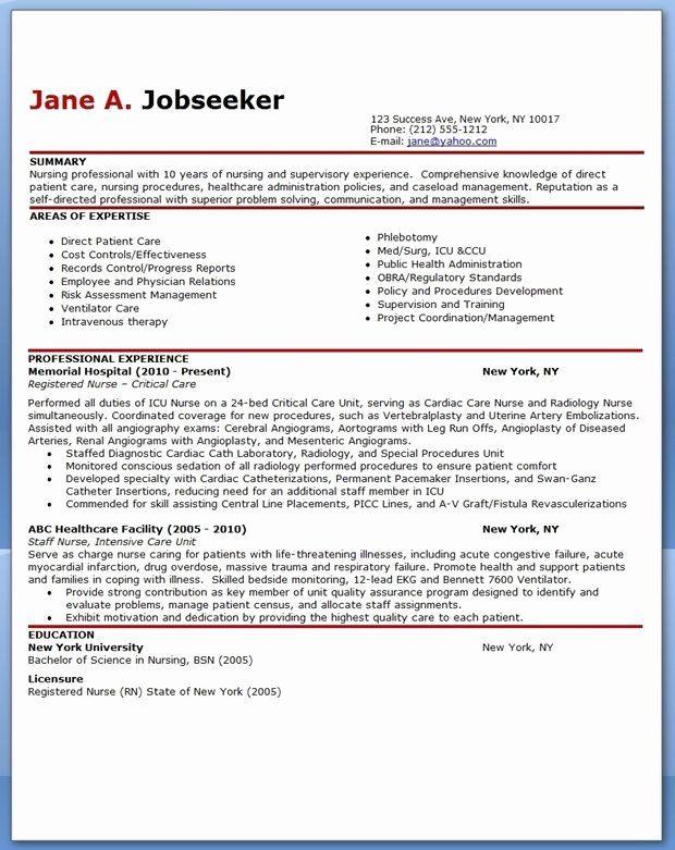 professional nursing resume template elegant experienced