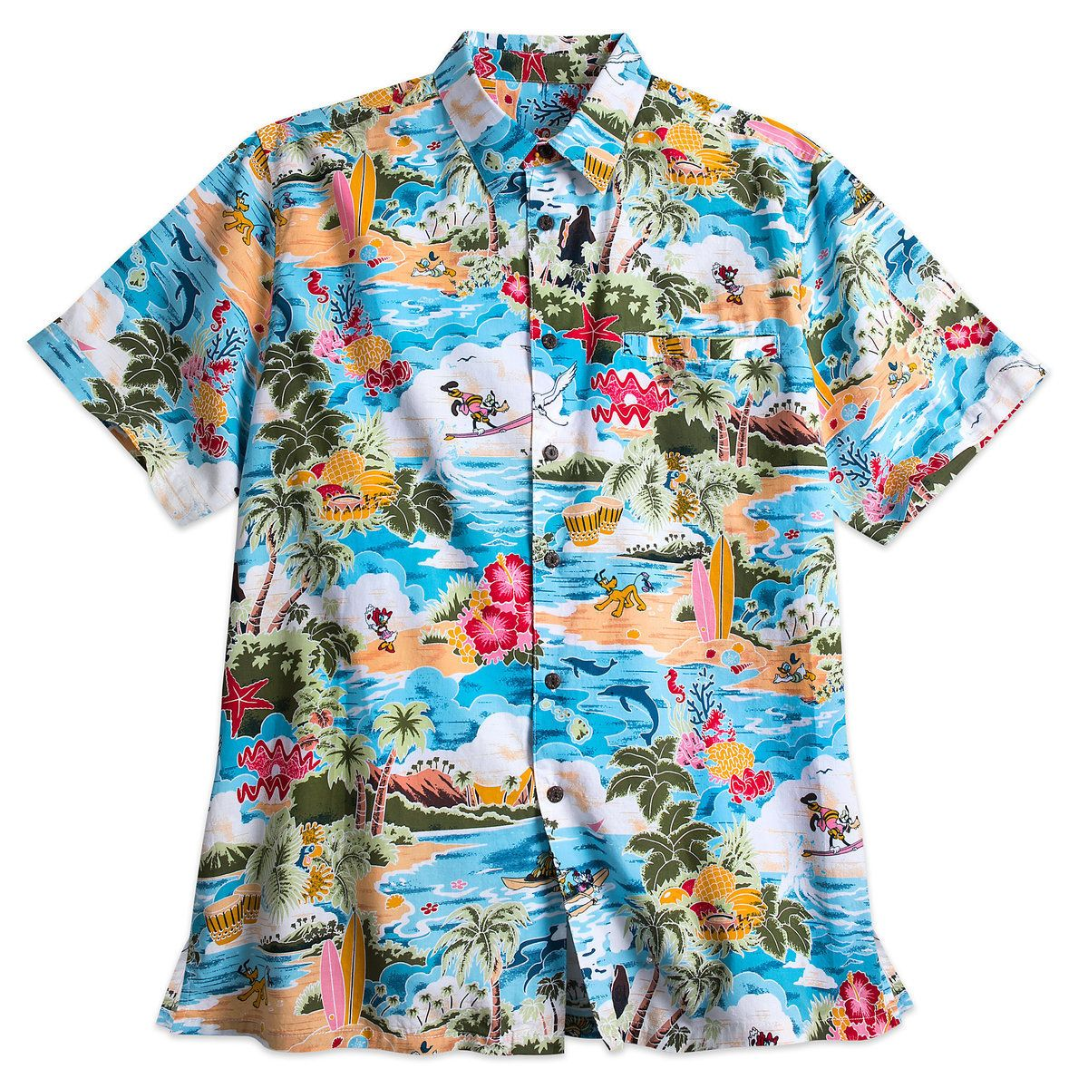 a80a77ce Thumbnail Image of Mickey Mouse and Friends Hawaiian Shirt for Men # 1