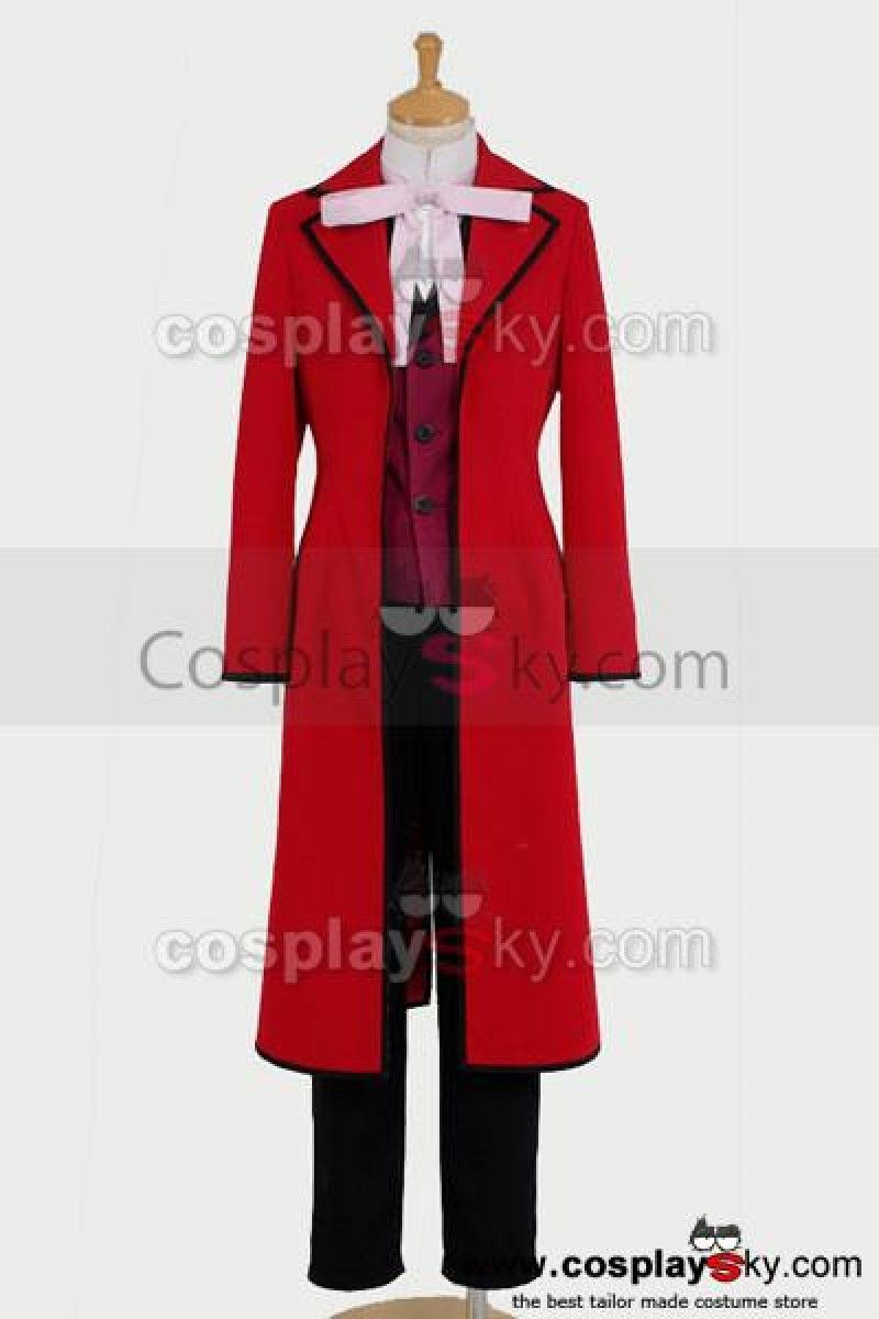 Black Butler Shinigam Grell Sutcliff cosplay costume Male size Medium in stock