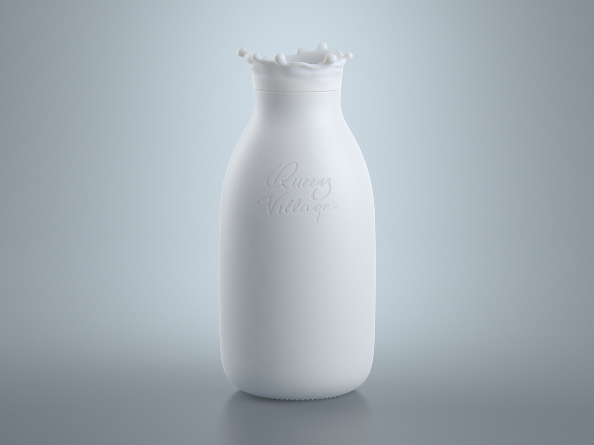 Milk bottle concept on Behance