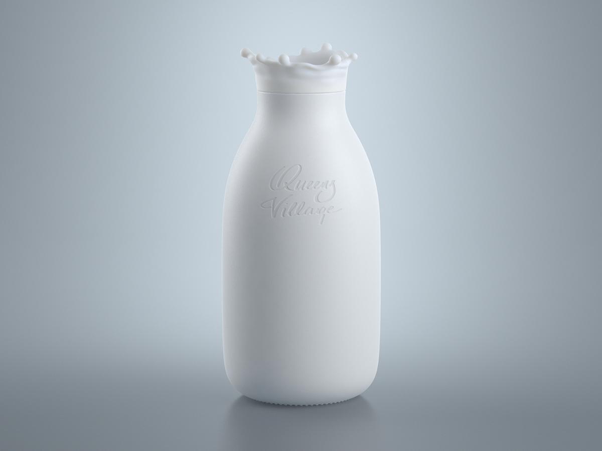 Milk bottle concept on Behance