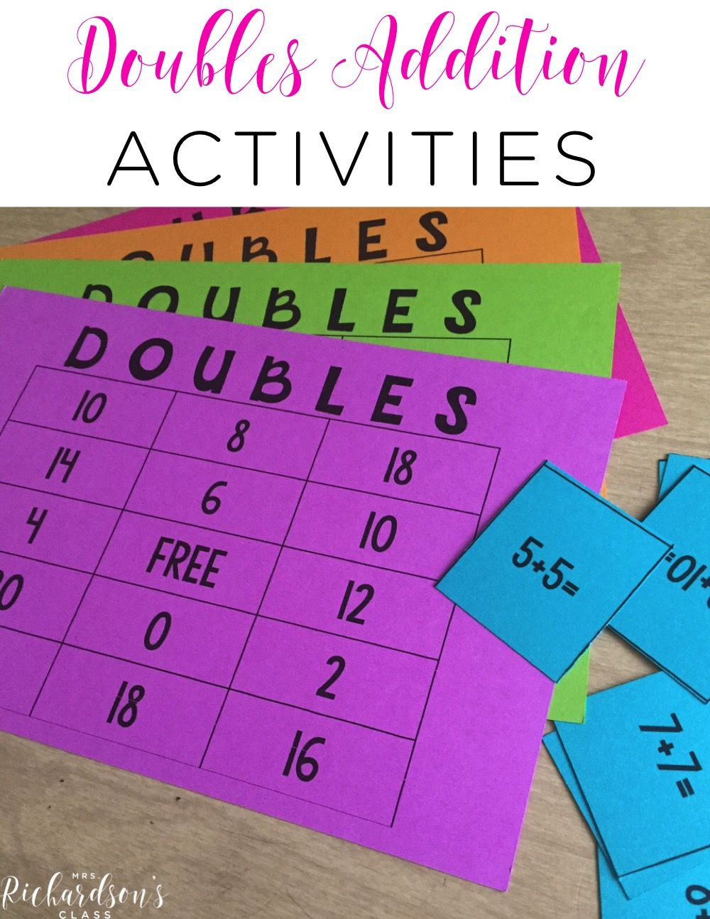 Doubles Addition Teaching Ideas That Are Great For First Graders I Love The Song That This Teacher Shared Too Math Addition Elementary Math Math Doubles Adding numbers using doubles