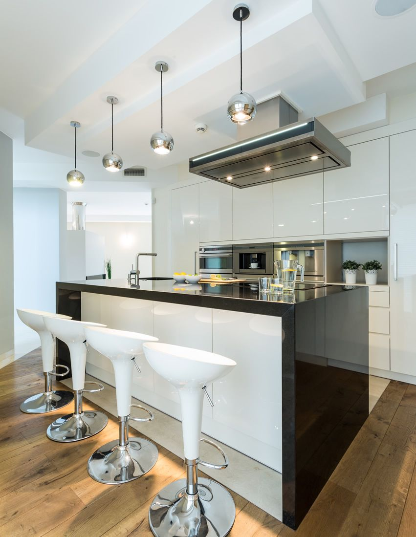 77 Modern Kitchen Designs (Photo Gallery) | Black counters, Modern ...