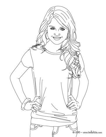 Selena Gomez Actress Coloring Page More Selena Gomes Content On
