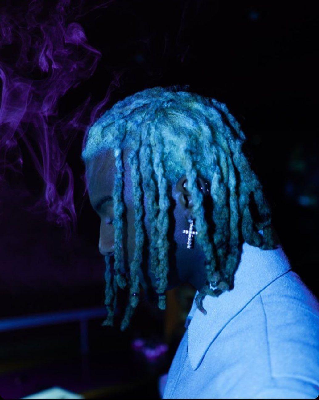 Pin By Spencer On Skull Art Dark Green Aesthetic Blue Aesthetic Rapper Wallpaper Iphone