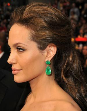 Image result for angelina jolie hair up styles