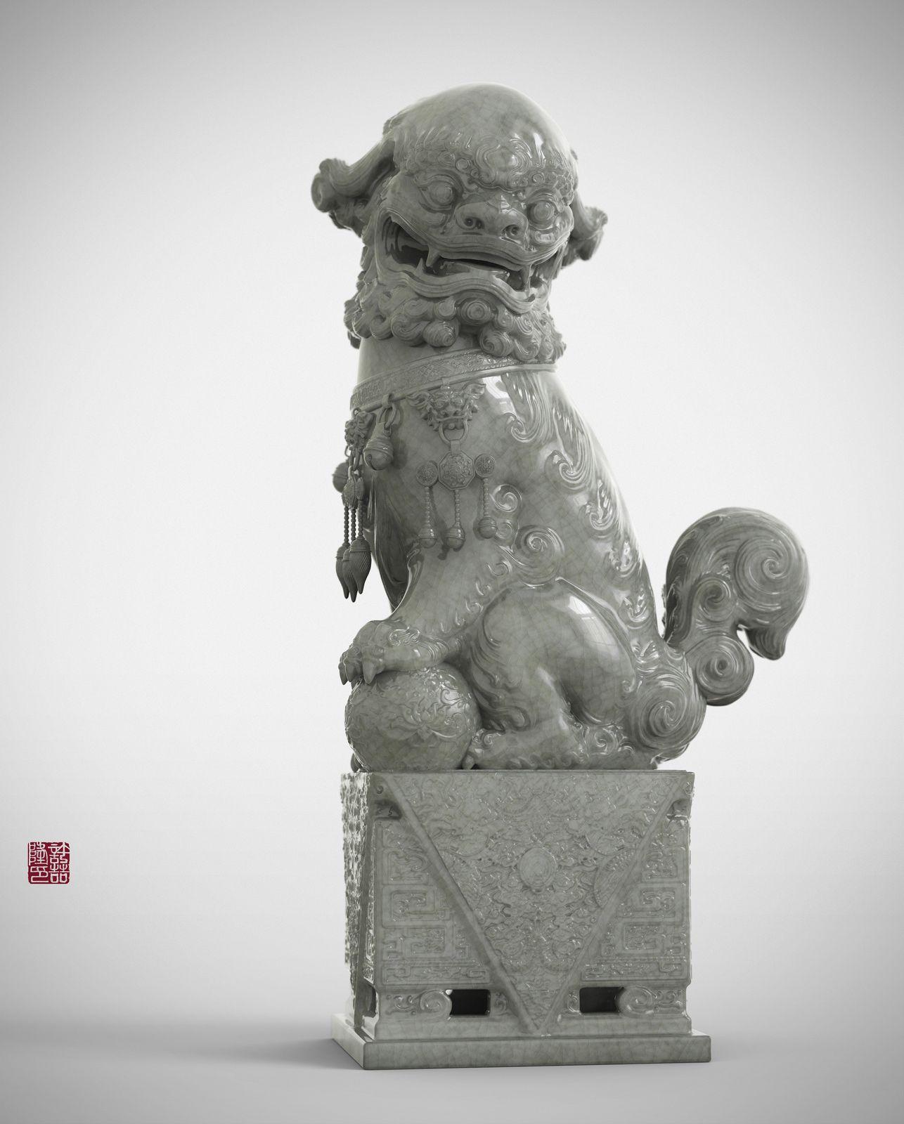 ZBrush sketchbook of Zhelong Xu Lion, Zbrush, Sculpture
