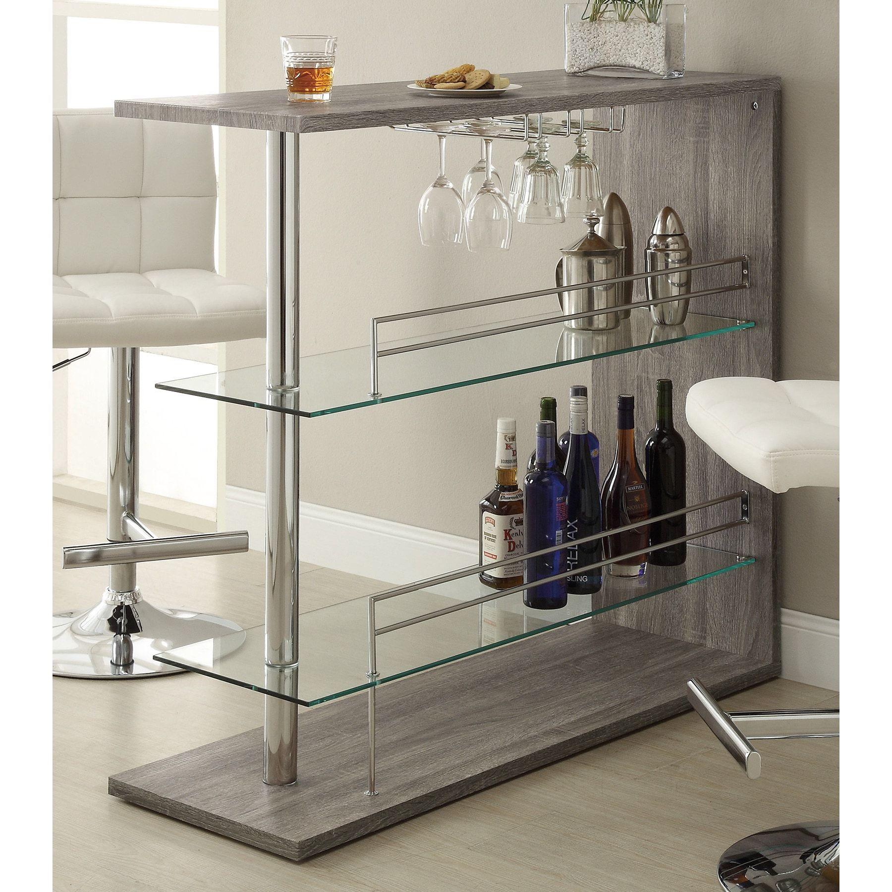 Coaster Company Modern Grey Bar Table