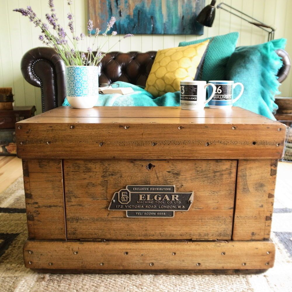 Vintage Mid Century Industrial Factory Tool Box Chest Storage Trunk Tv Table Vw Storage Trunk Storage Chest Box Chest