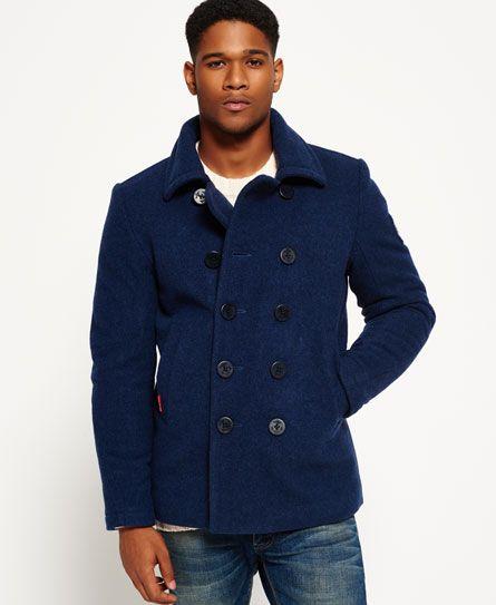 Superdry Rookie Pea Coat Blue Peacoat, Superdry Classic Pea Coat Navy