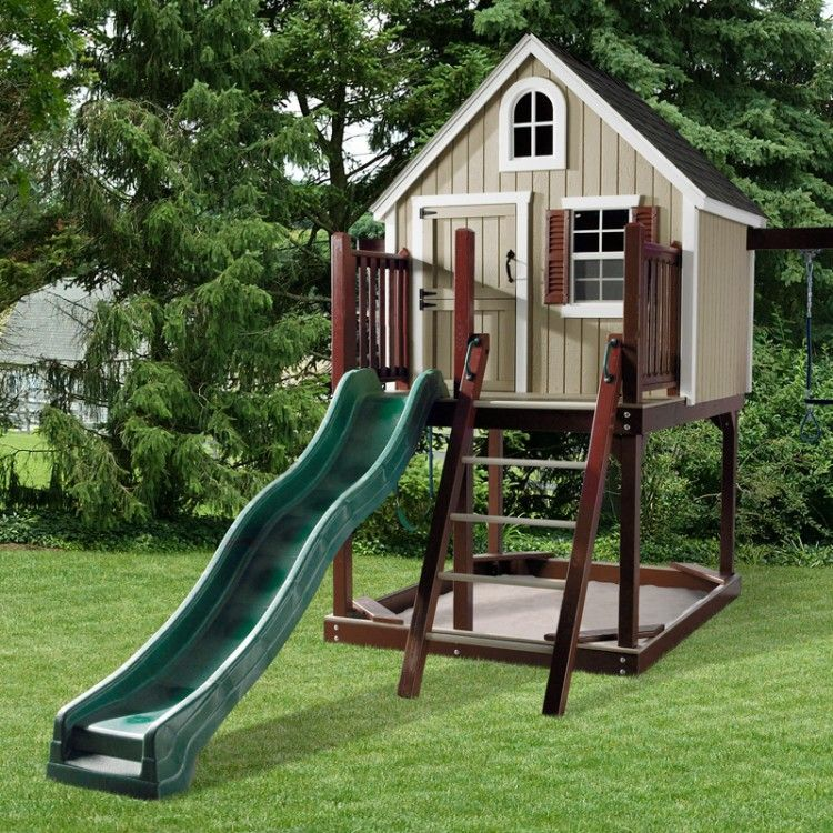 Amish Made Treehouse Loft Swing Set Play houses, Build a