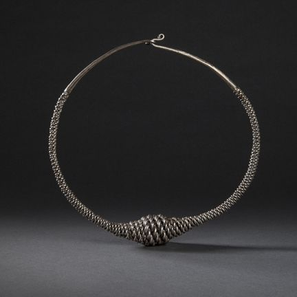 A Silver Torque (Necklace), Nias Indonesia 19th Century www.ollemans.com SOLD