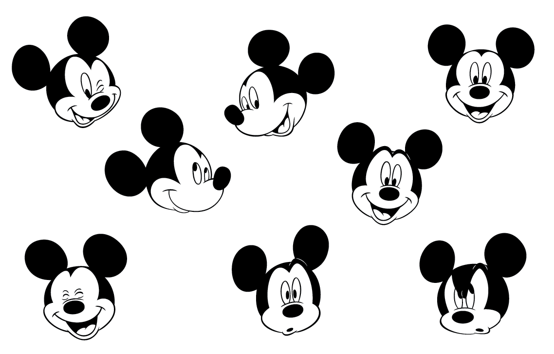 Mickey Faces Mickey Mouse Pinterest
