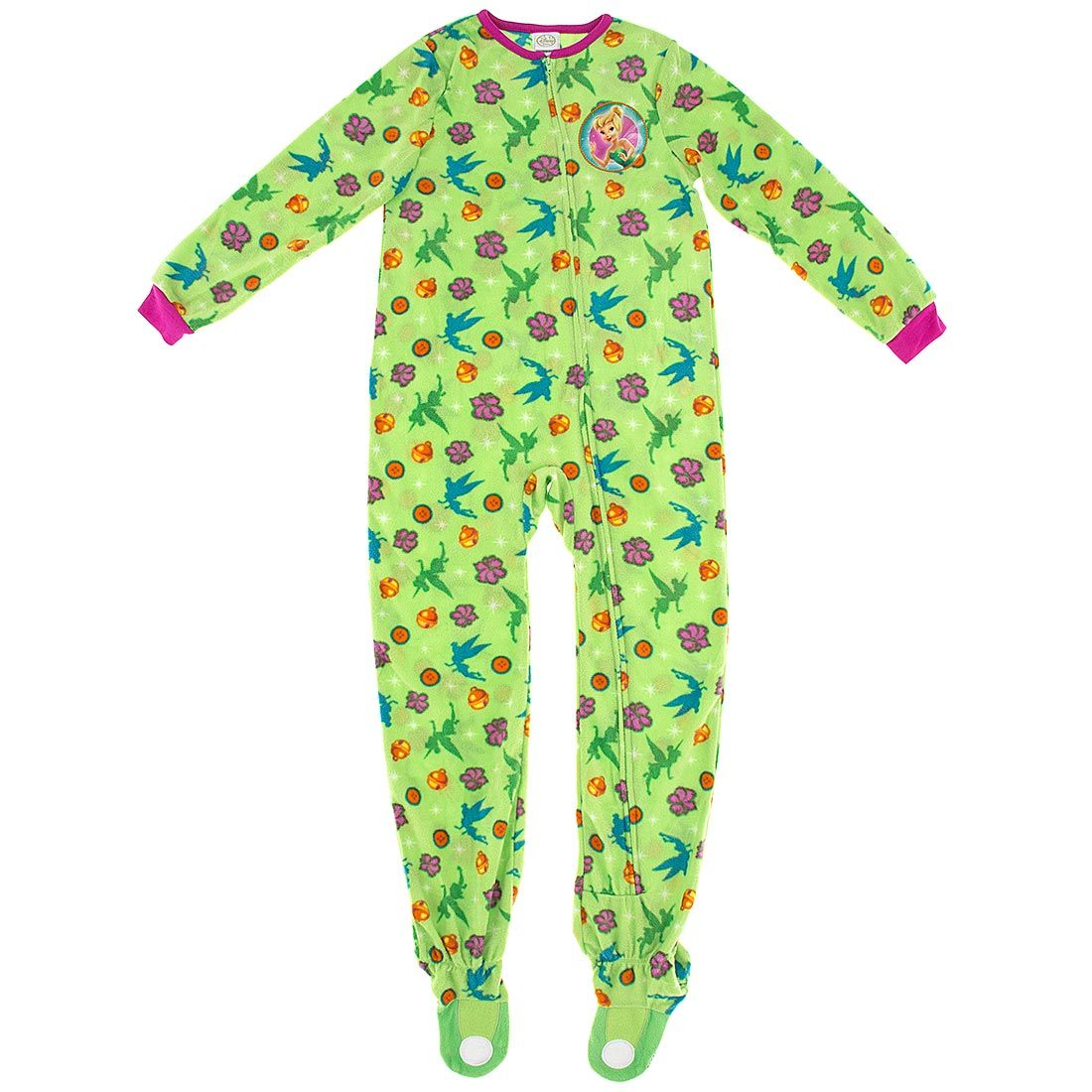Tinker Bell Green Footed Pajamas For Toddlers And Girls