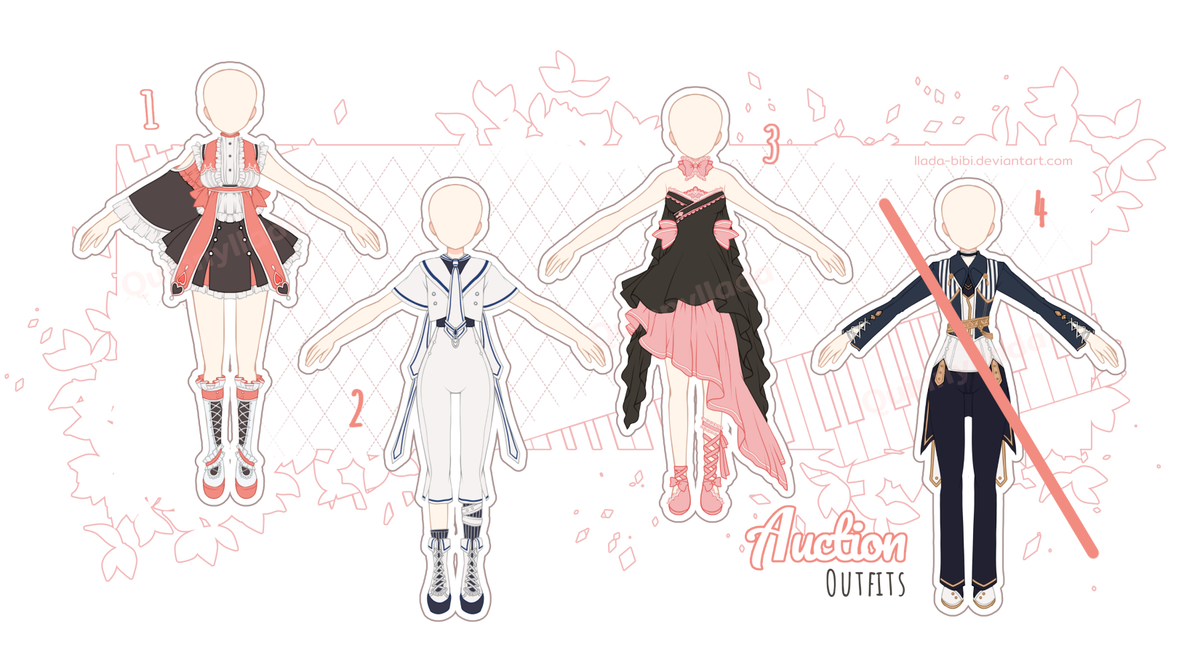 Adopt Auction Mixed Batch 2 Close By Https Www Deviantart Com Quinnyilada On Deviantart Art Clothes Anime Outfits Drawing Clothes