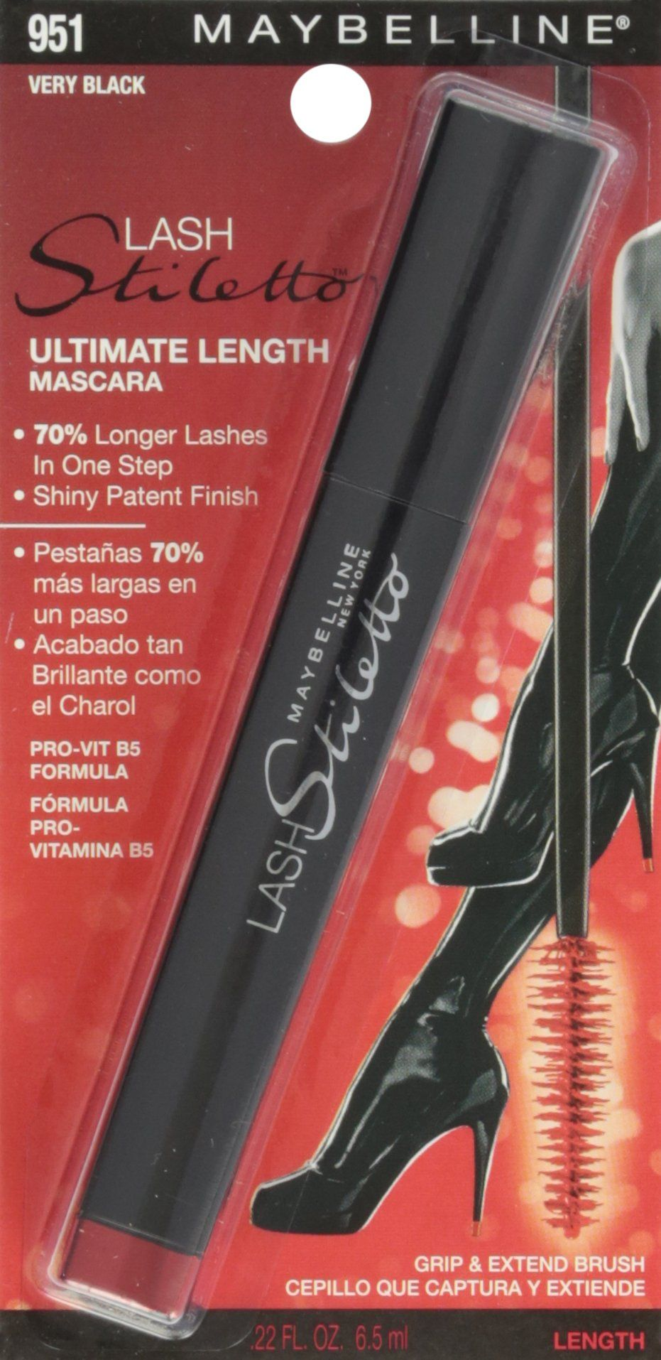 49a8a9994a1 Maybelline New York Lash Stiletto Ultimate Length Washable Mascara Very  Black 951 0.22 Fluid Ounce -- To view further for this item, visit the  image link.