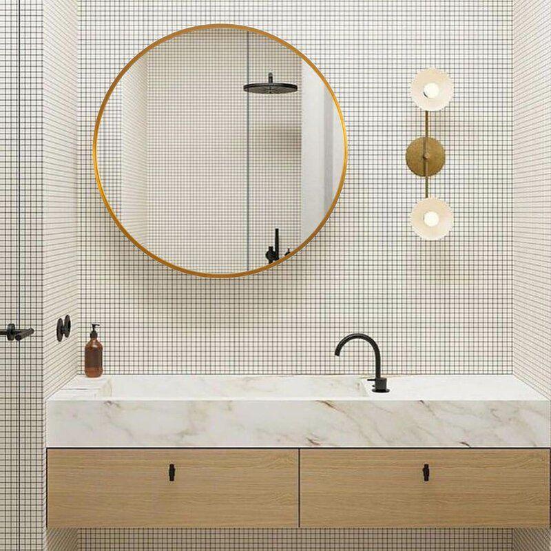 Latitude Run Lafon Modern Contemporary Wall Mounted Mirror Reviews Wayf Bathroom Vanity Mirror Modern Contemporary Bathrooms Contemporary Bathroom Vanity