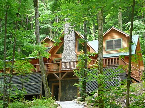 cabins and lodging chalets rentals north brysoncity bryson guide carolina nc logo mobile mountain city smoky my cabin