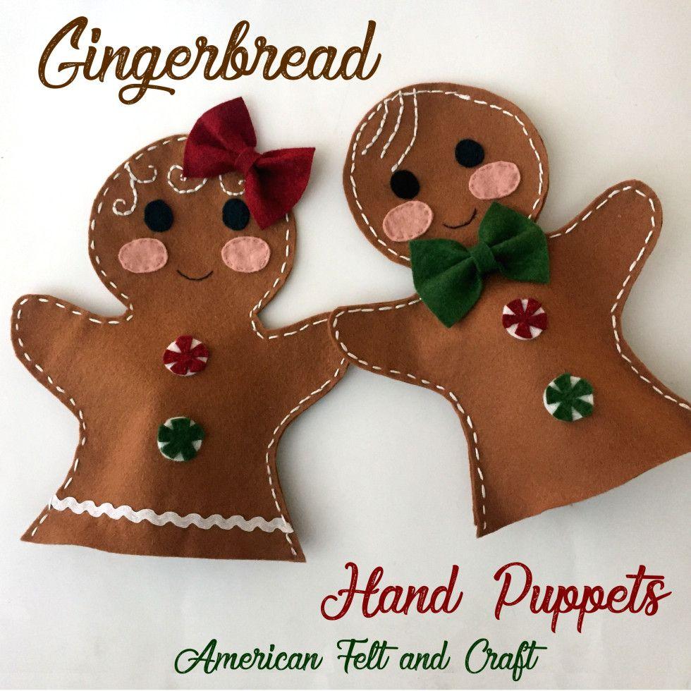 Gingerbread Hand Puppets #handpuppets