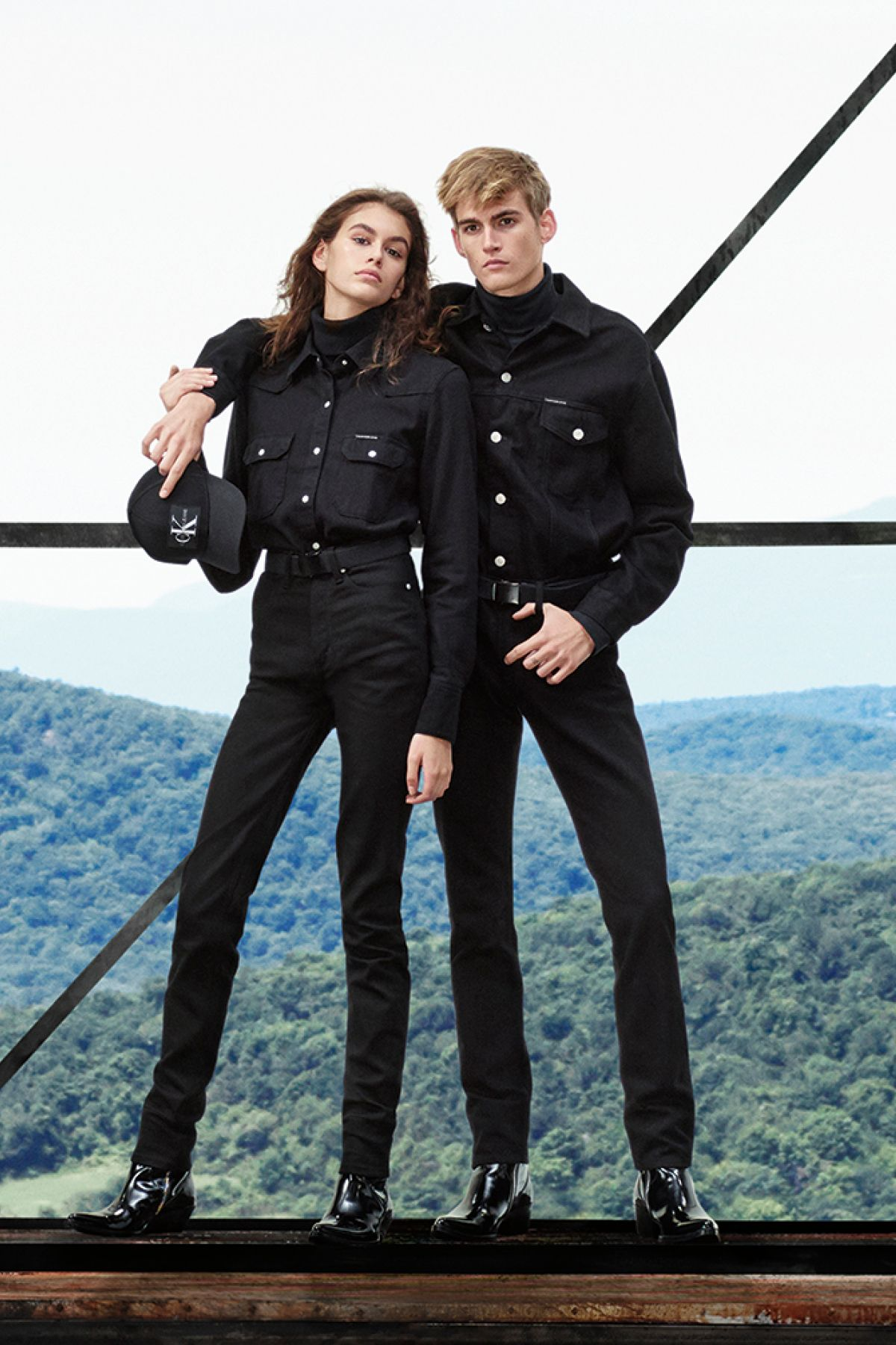 55babeb7c6c Fall 2018 denim uniform essentials from CALVIN KLEIN JEANS, as seen on Kaia  Gerber and Presley Gerber. Iconic denim is reimagined in authentic washes  and ...