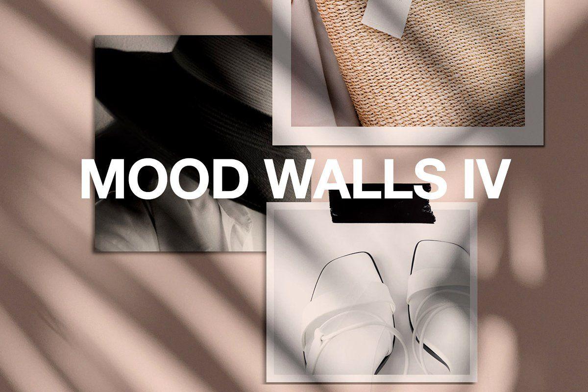 Download Realistic Mood Wall Mockups Iv Social Media Mockup Mockup Design Mood