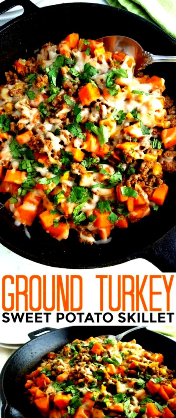 Ground Turkey Sweet Potato Skillet recipe is a healthy gluten free meal that is full of flavor and hearty enough to feed your family quickly on busy weeknightsThis Ground...