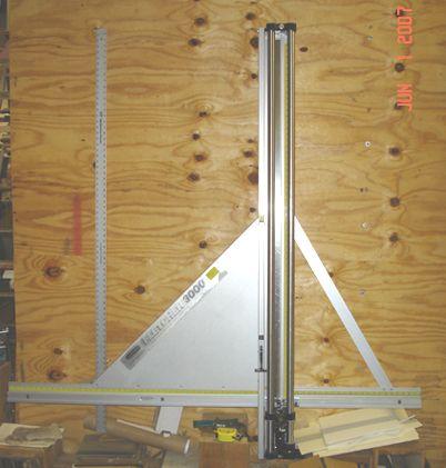 Fletcher 3000 Glass Cutter Wall Mount Used Framing Equipment
