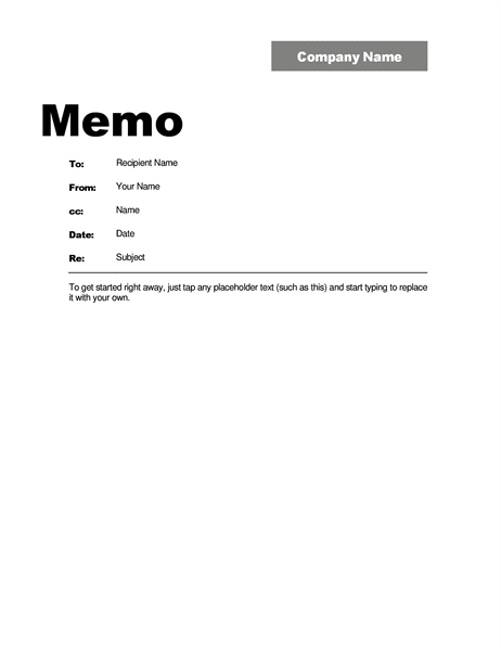 Business Memo Template HttpsSourcetemplateComMemoTemplates