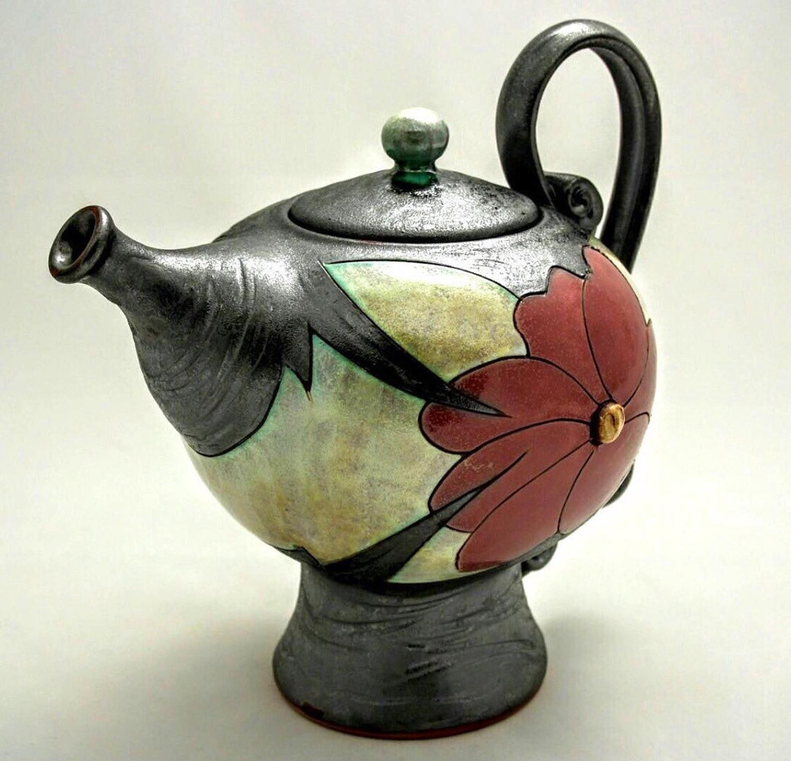 Ceramic Teapot, Pottery Tea Maker , Unique Quirky Tea Pot