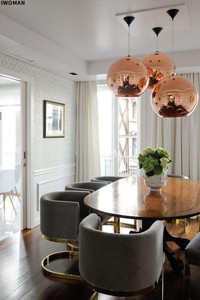 Design Icon Copper Pendant Light Dining Room Design Dining Room Inspiration Interior