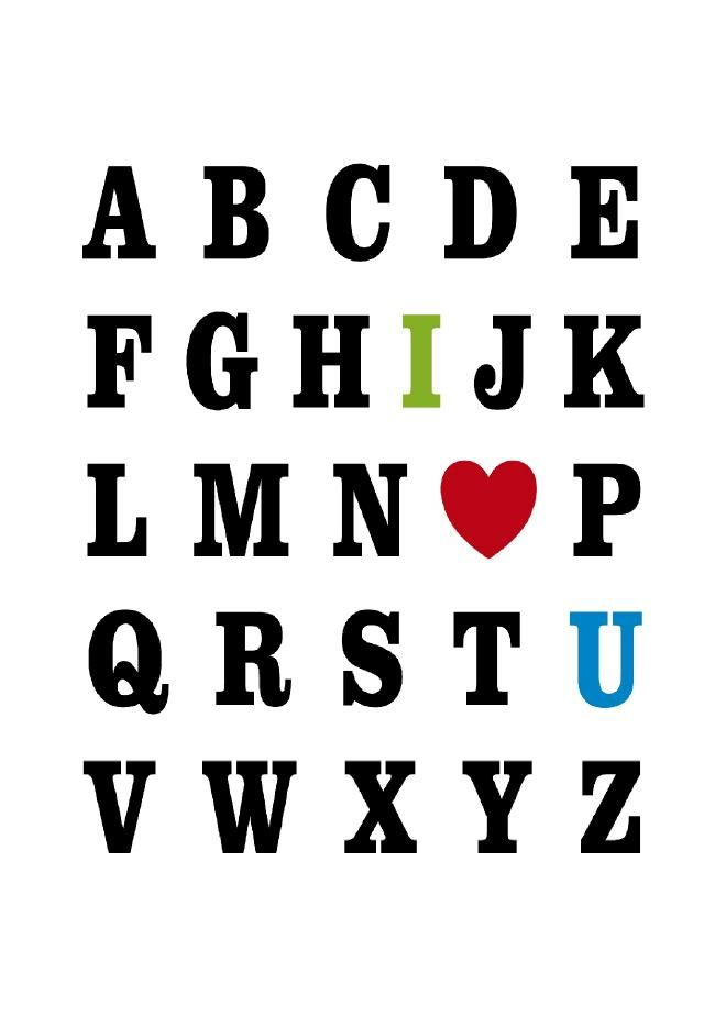 Make our own version for preschoolers to give parents!  Just Because 20 - ABC I Love You - 5x7 - Sprik Space - Download - 4shared - Sprik Space