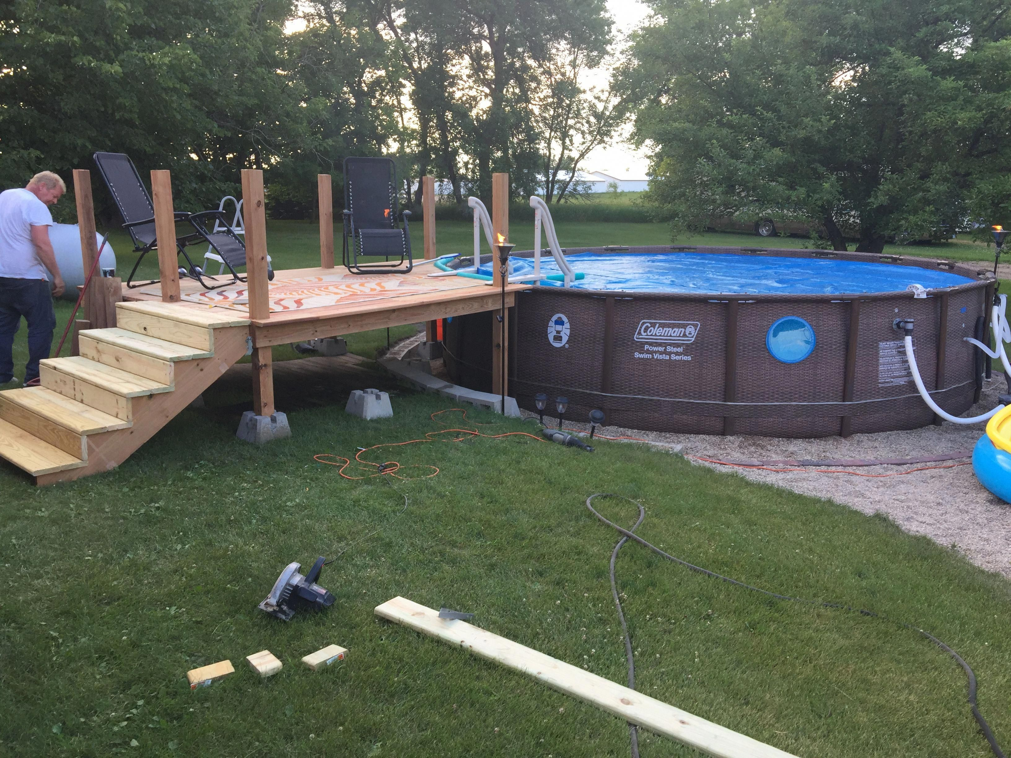 Pin by Tricia Tavares on DIY! Above ground pool