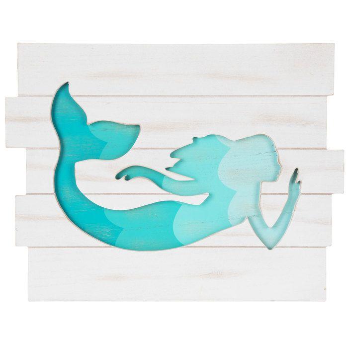 Mermaid Cutout Wood Wall Decor   Hobby Lobby   1277482
