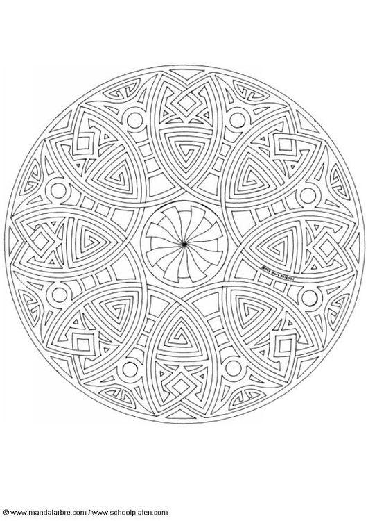 Mandala Kleurplaten Boek.Kleurplaat Mandala 1702h Mandala S