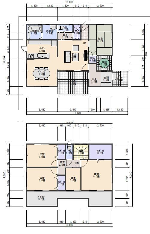 中庭と坪庭のある住宅の間取り 335 5坪東入り5ldk 間取り 住宅