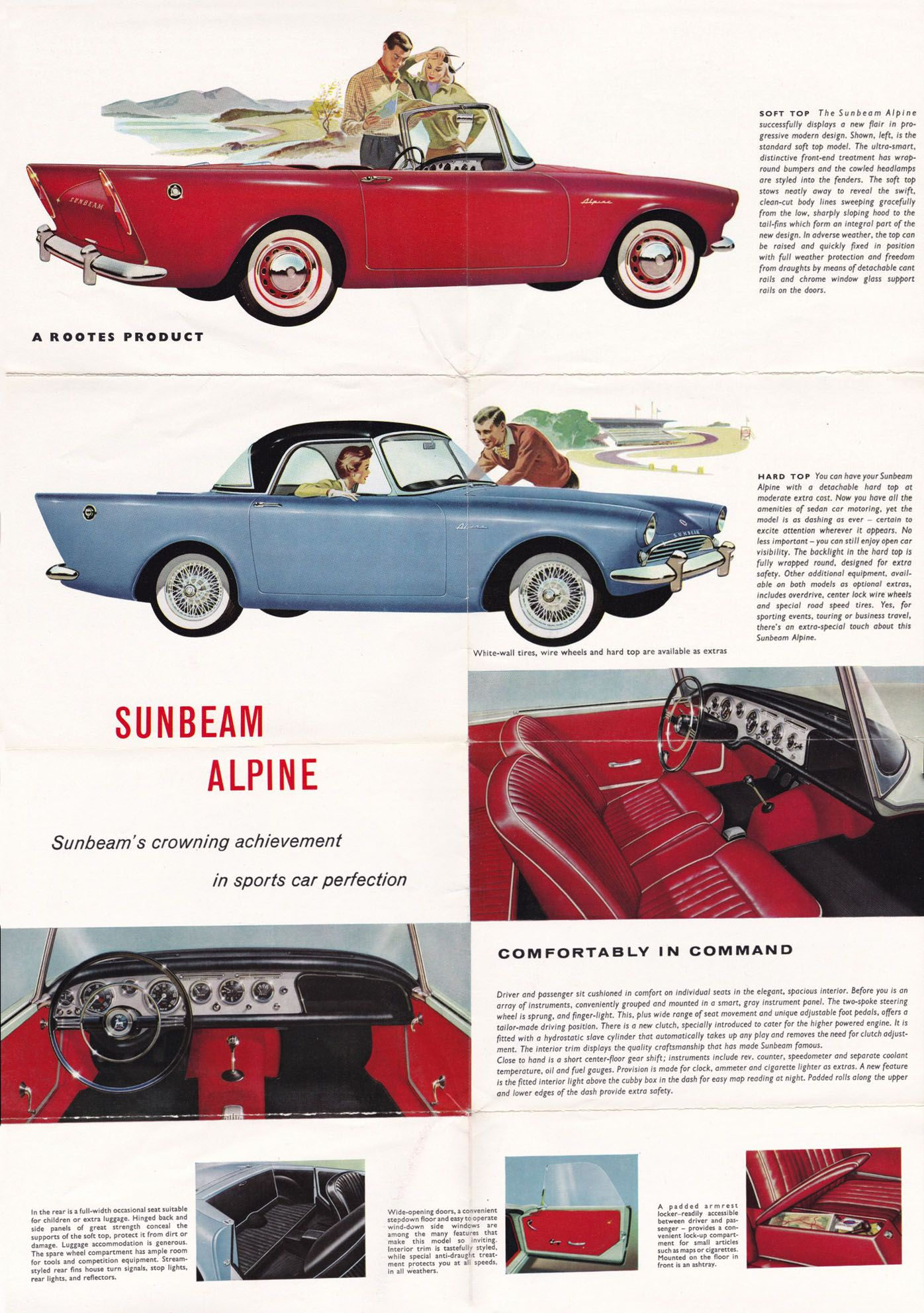 Vintage /& Rare 1965 Sunbeam Tiger Ad Better Than Original Quality Print