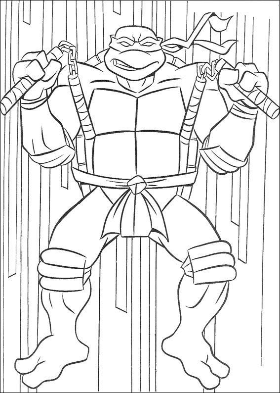 Kleurplaten Teenage Mutant Ninja Turtles.Print Ninja Turtles Kleurplaat Superhelden Ninja Turtle Coloring