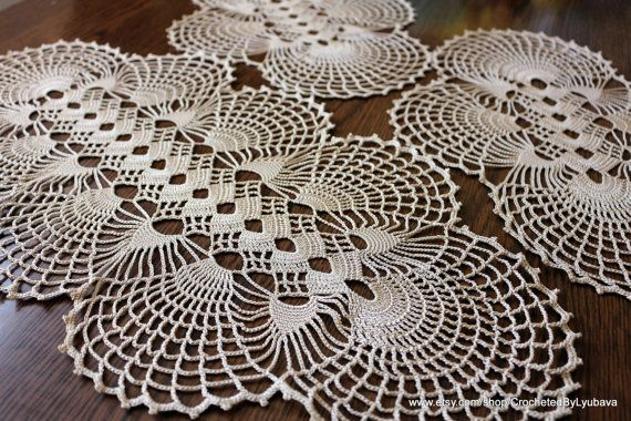 Crochet Oval Doily-Crochet Tablecloth-Large by CrochetedByLyubava