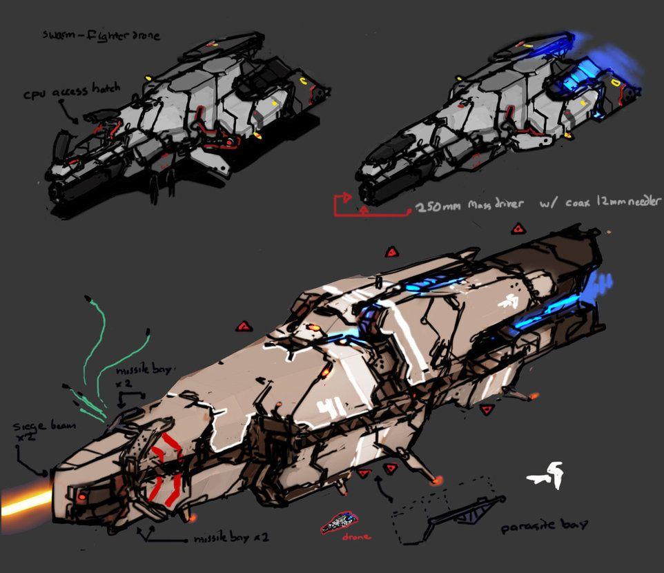 http://daemoria.deviantart.com/art/Drone-n-Corvette-322417078