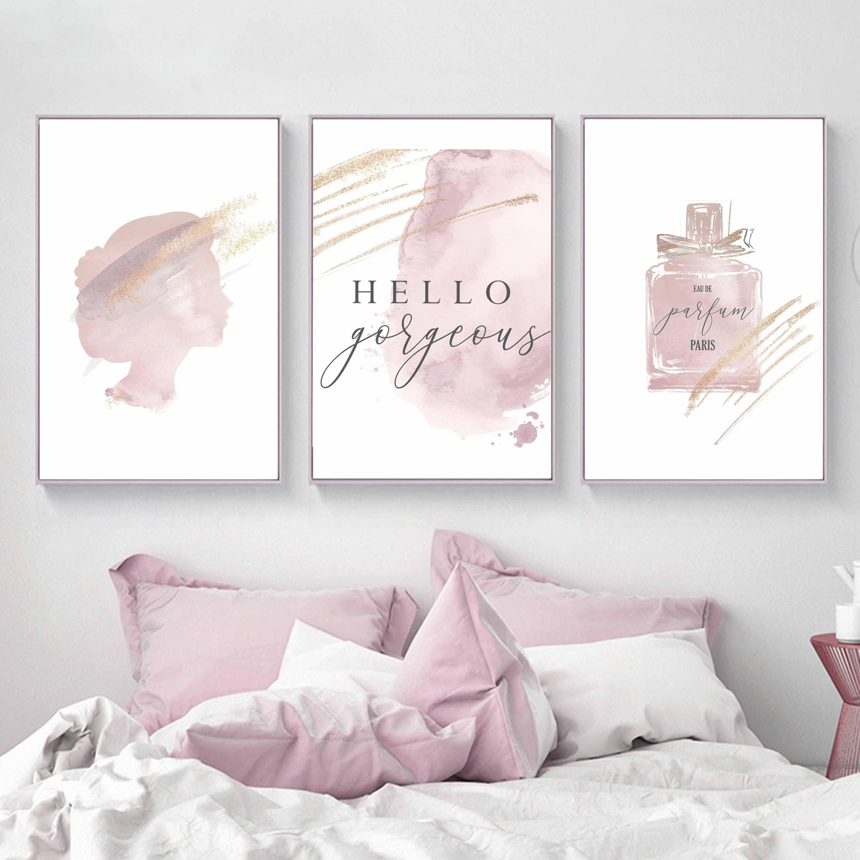 Makeup Printsrose Gold Decormakeup Wall Artfashion Wall Etsy Rose Gold Decor Girly Wall Art Fashion Wall Art