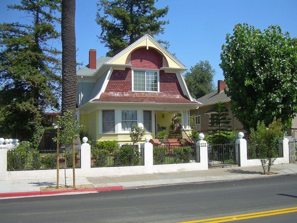 Dutch Colonial Revival House San Jose, California. | Exterior ...