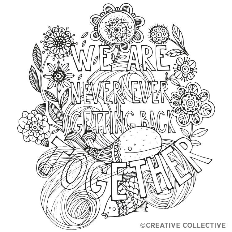 Adult Quote Coloring Book Page Bitch