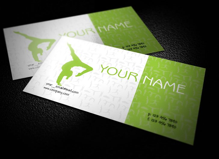Download this interesting Free Yoga Teacher Business Cards Design ...