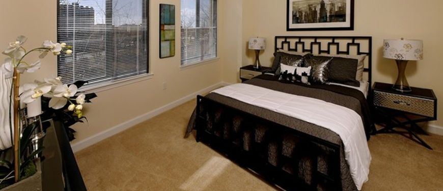 A Spacious Master Bedroom At Carmel Alexandria Luxury Apartments In  Alexandria, Virginia