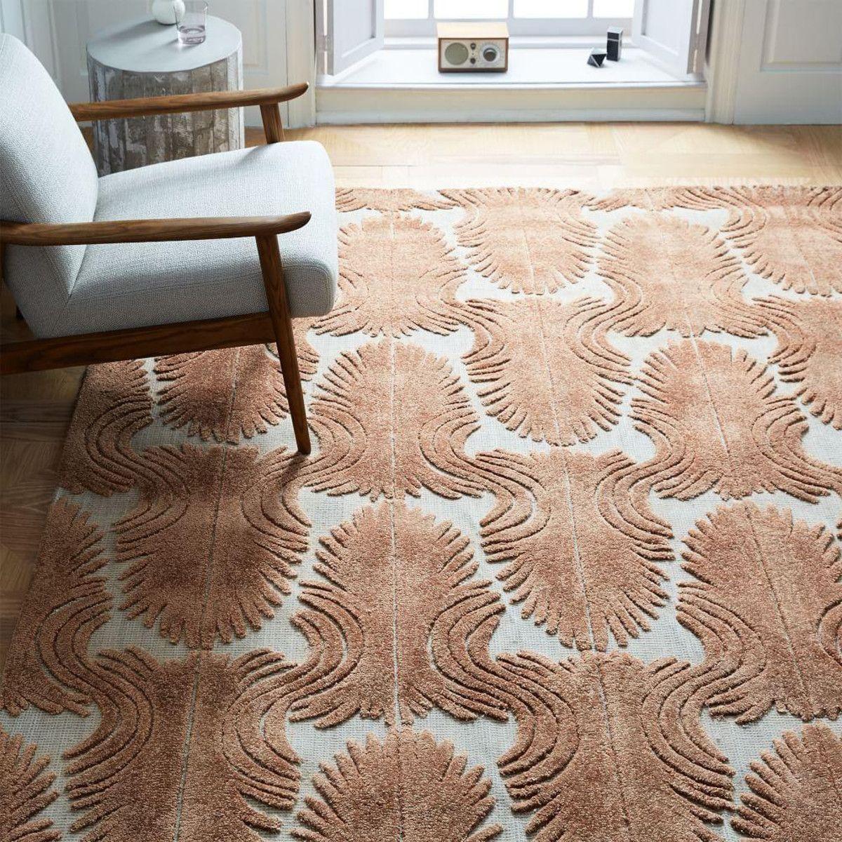 Deco Fan Rug - Copper Rust | Living room area rugs, Rugs ...